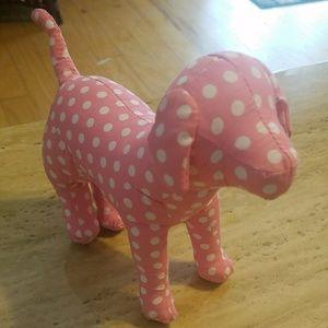 Victorias secret mini pink dog with polka dots